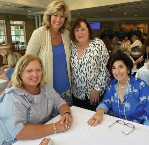 Pictured (L to R), Andrea Reisman, Wendy Ruden, Emily Shore and Andrea Moss attended the annual Jewish Family Service Card Party at Harbor Pines Golf Club on August 26.  The ladies spent an afternoon playing Canasta and had a buffet dinner.  lunch as well as the chance to win door prizes and bid on auction items.